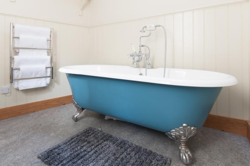 Relax in the roll top bath....