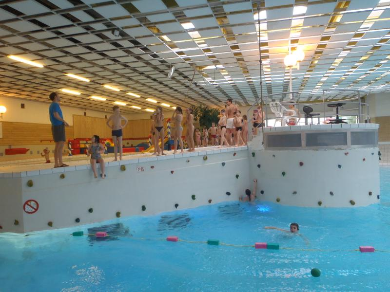 Indoor pool at Evron - also big outdoor section with slide.