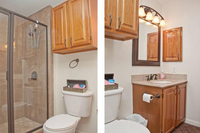 Badkamer met staande douche