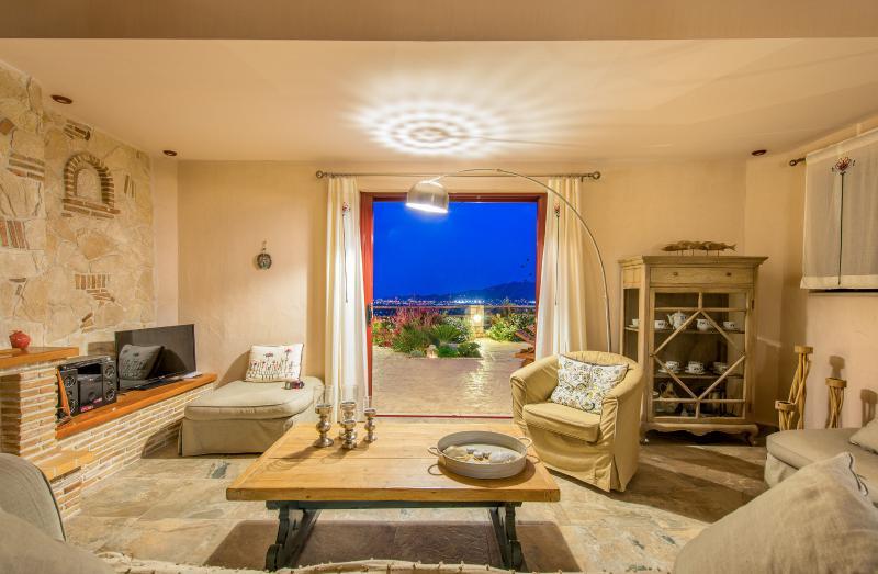 Villa Rosa living room night