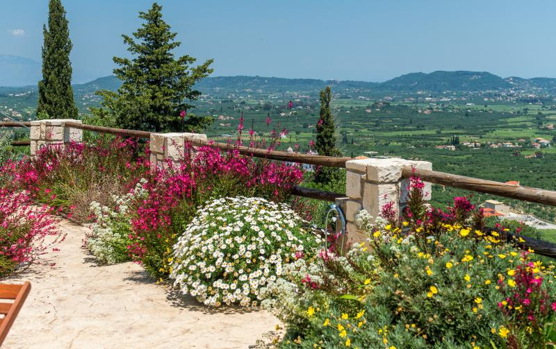 The view from Villa Rosa's terrace