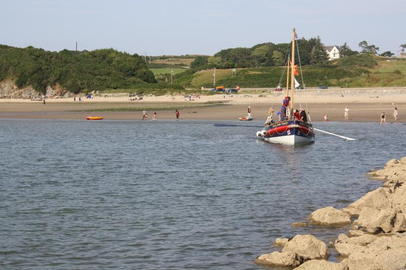 Nearby Cemaes Beach, a short stroll away