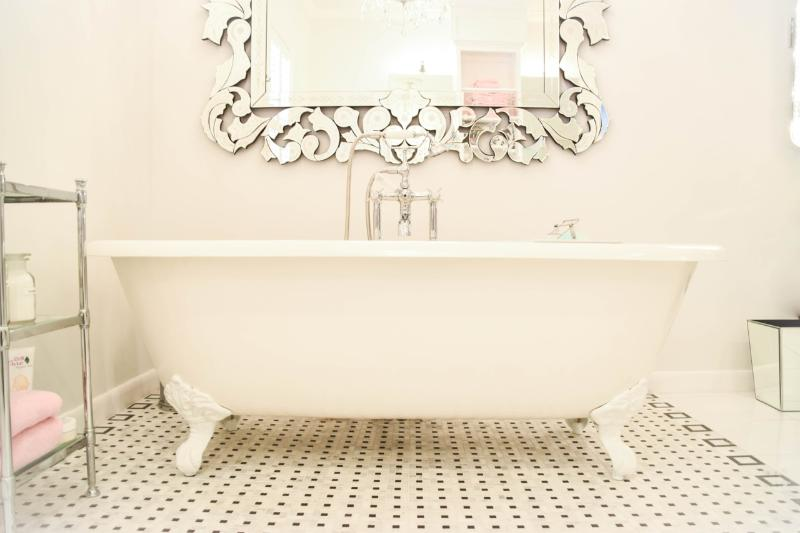 The Master Bath: The claw foot tub is the perfect place to relax.