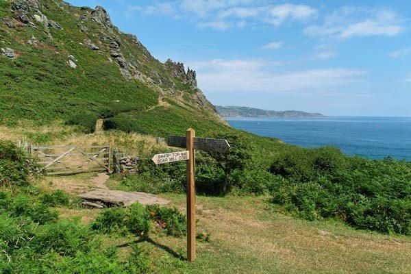 The coastal path can be accessed just over a mile from Swallow's Flight - stunning scenery and walks