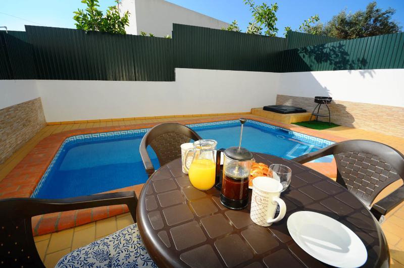 enjoy breakfast out on the terrace