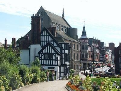 La vue depuis le château de Shrewsbury