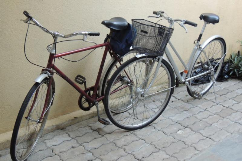Two bicycles - one ladies' and one gents' - provided free of charge, upon request