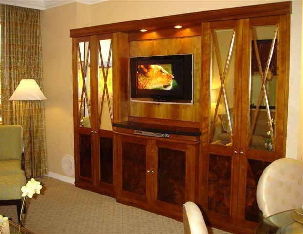 Entertainment center and high-definition flat-screen TV