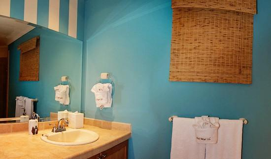 Bathrooms are appointed with plush spa quality towels and massage shower head.