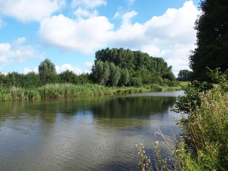 the river 'Leie' at 300 meters