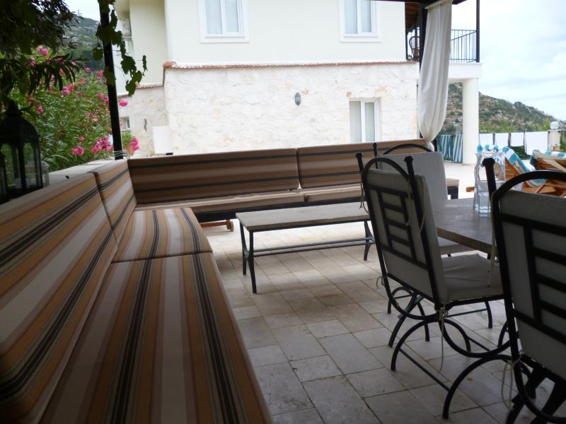 shaded seating