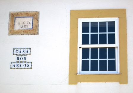 Casa dos Arcos - three old houses put together in 1867 to welcome the new bride, Jesuína Nogueira.