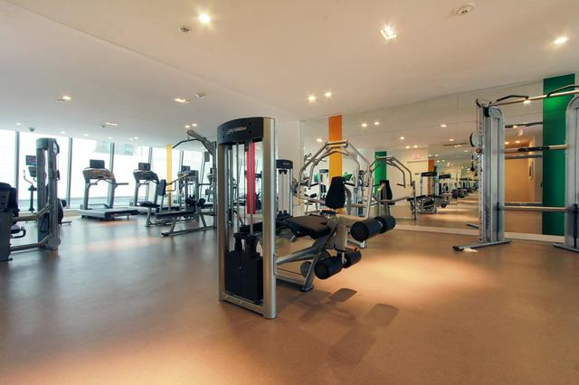 Fully equipped exercise room.