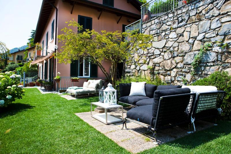 Relaxing area in the private garden
