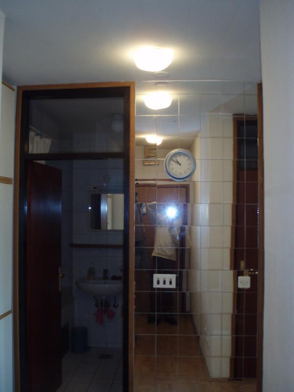 Entrance hall (looking into the modern bathroom)