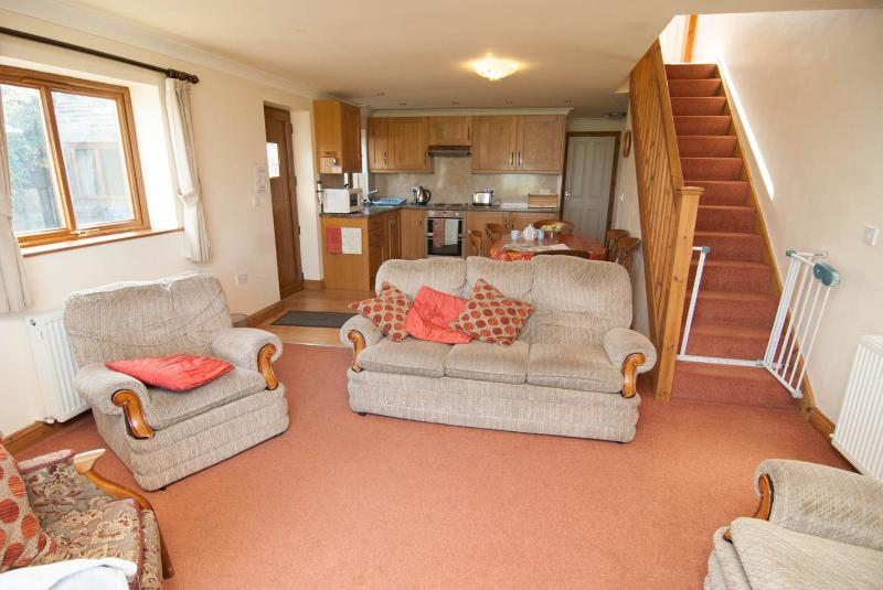 Lounge leads onto well equipped kitchen