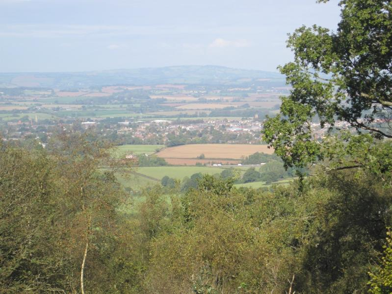 Views from the Blackdown Hills towards Wellington