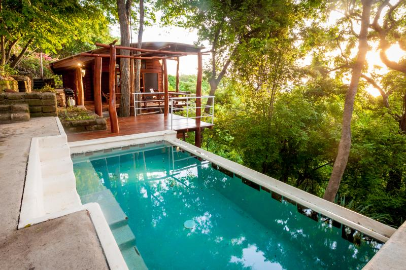 Casa Arbol - it's really in the tree tops!  Enjoy a plunge in the pool to cool down
