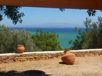 view from the house to the Aegean Sea
