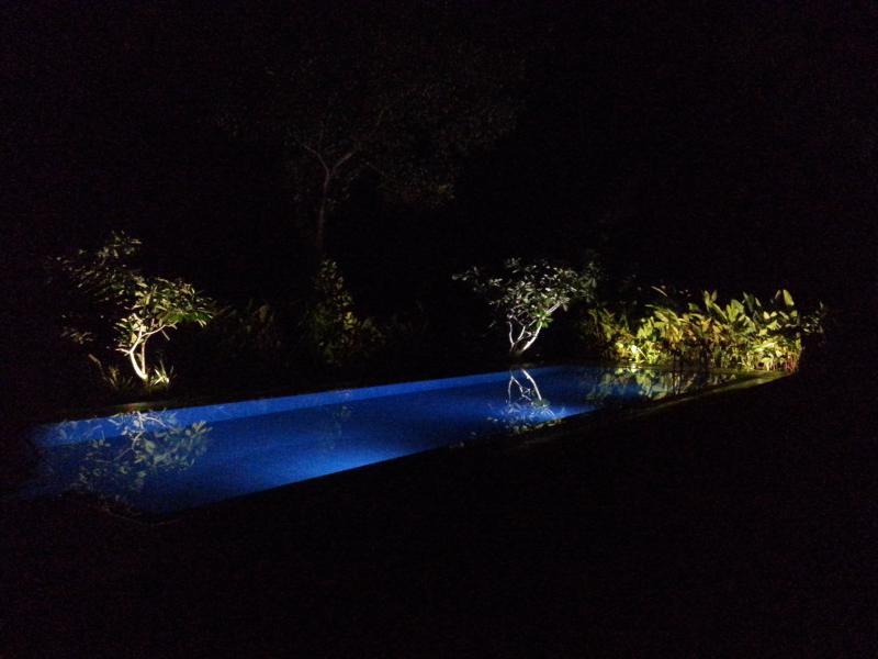 La Cannelle Villa Pool at Night