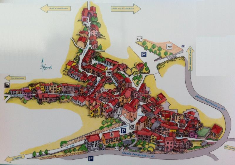 Costarainera's map