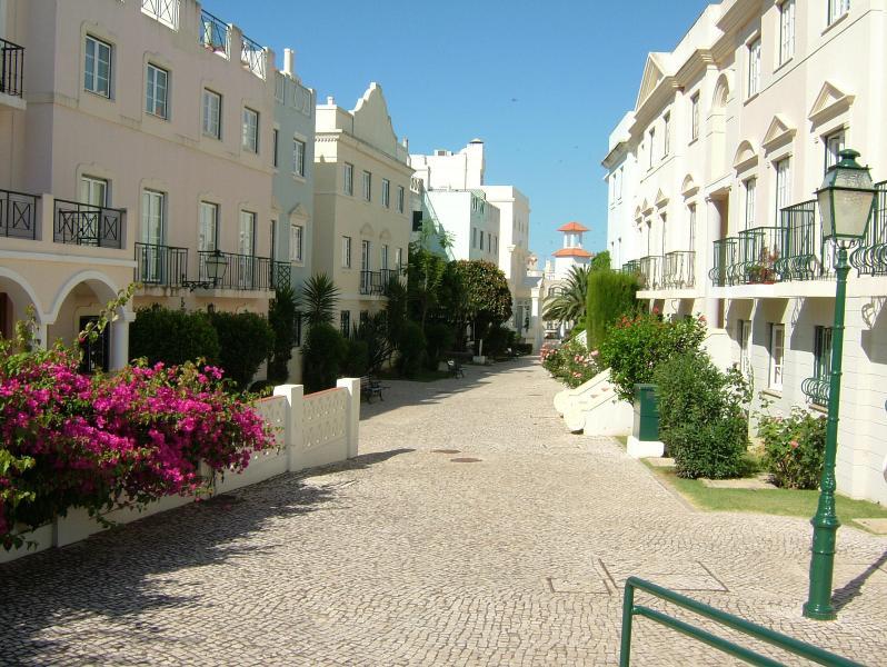 Main street of Old Village opposite Solar do Golfe