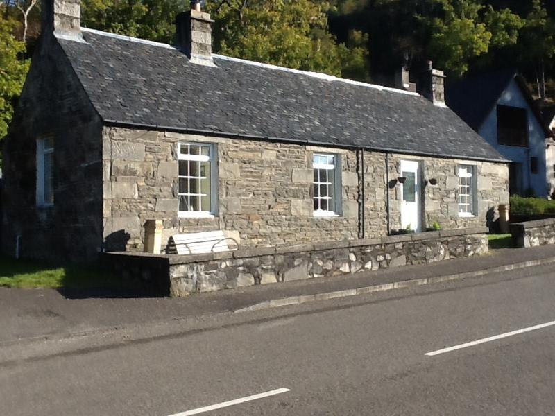 Salen Cottage was built in1853 and was the old police station and the room on the left was the jail