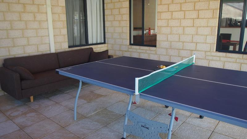 Alfresco with table tennis