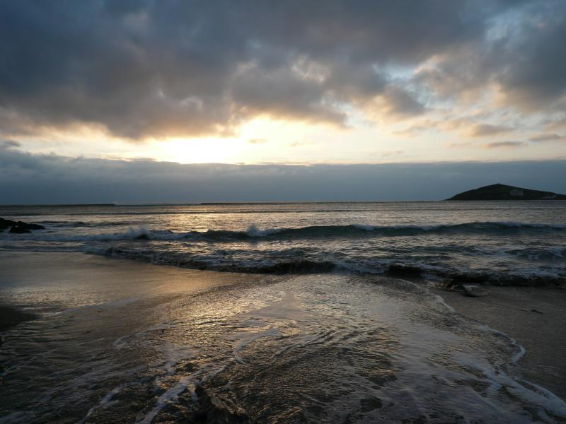 Sunset at Bantham... Winter Sunday lunch at the Sloop followed by a trip to the glorious beach