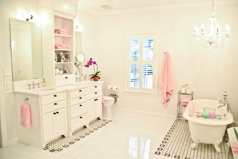 The Master Bath: Spacious area complete with a claw foot tub and His and Her sinks