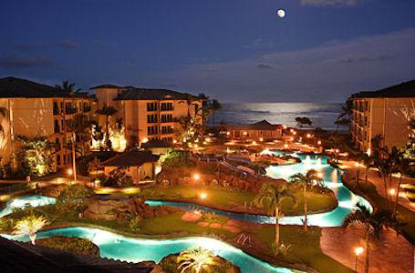 Full Moon over Waipouli Beach Resort