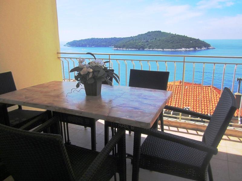 Balcony with stunning island view