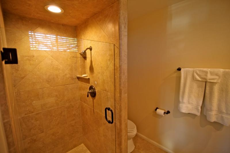 Custom shower in master bathroom