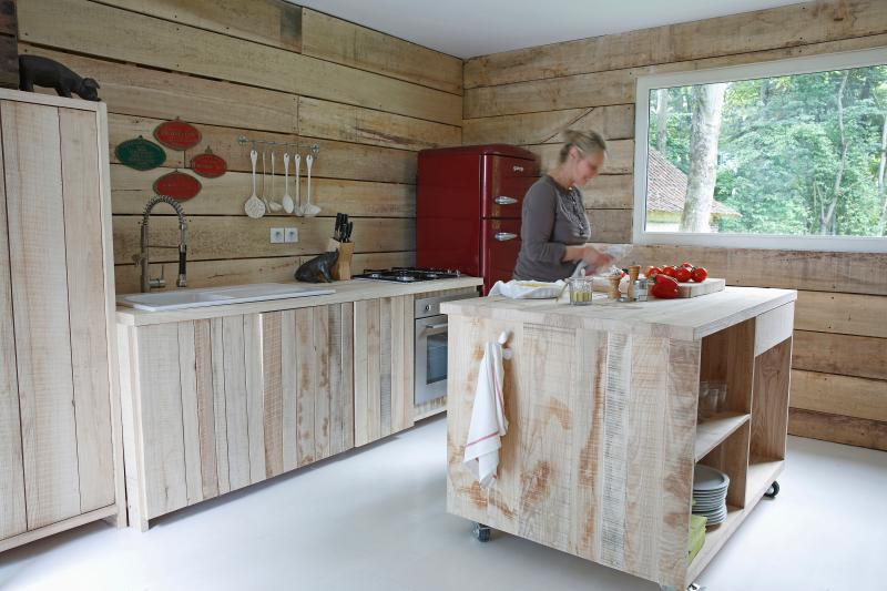 The 'rustic chic' kitchen made available to our visitors