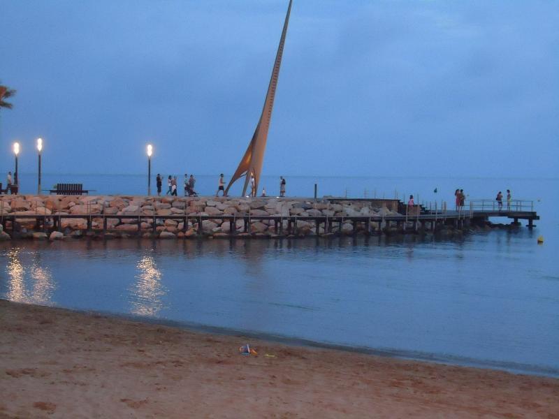 La playa de los restaurantes.
