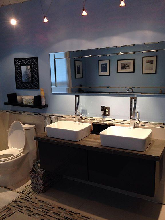 Master 2 casa de banho com lavatórios duplos