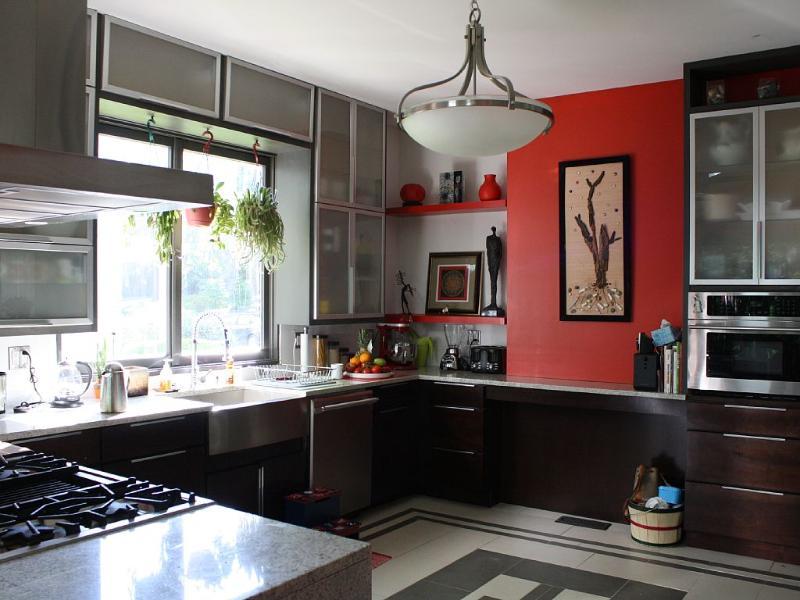 cozinha com aparelhos de alta final