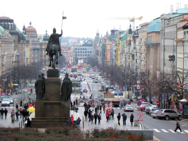 Wenceslas square just in 5 minutes walking