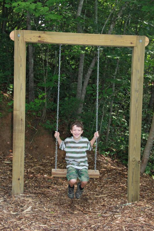 This swing is exclusive for Timber Hollow
