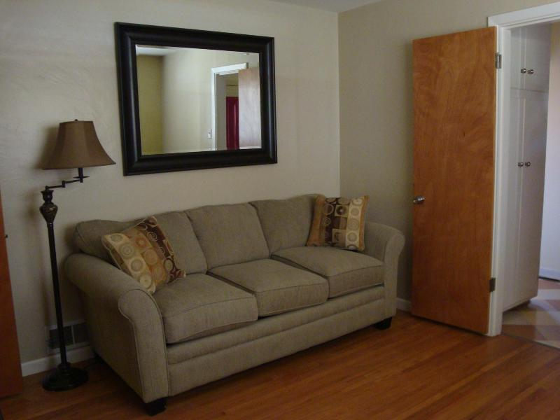 Third bedroom has a full sofa bed and cable TV