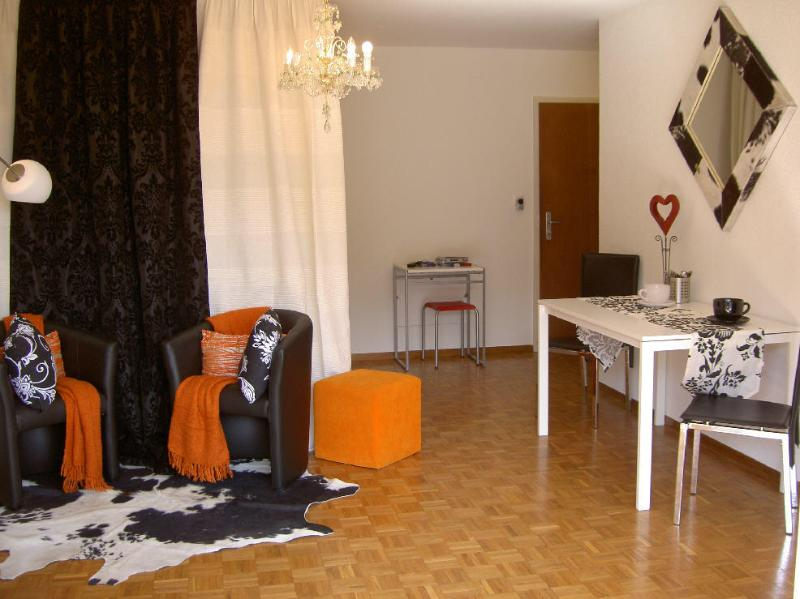 Modern studio no 71, spacious, large balcony, partially Lakeview, holiday rental in Caux