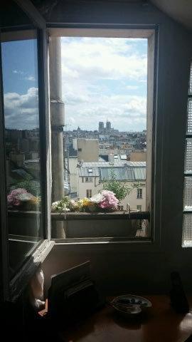 Vue de la fenêtre de la chambre