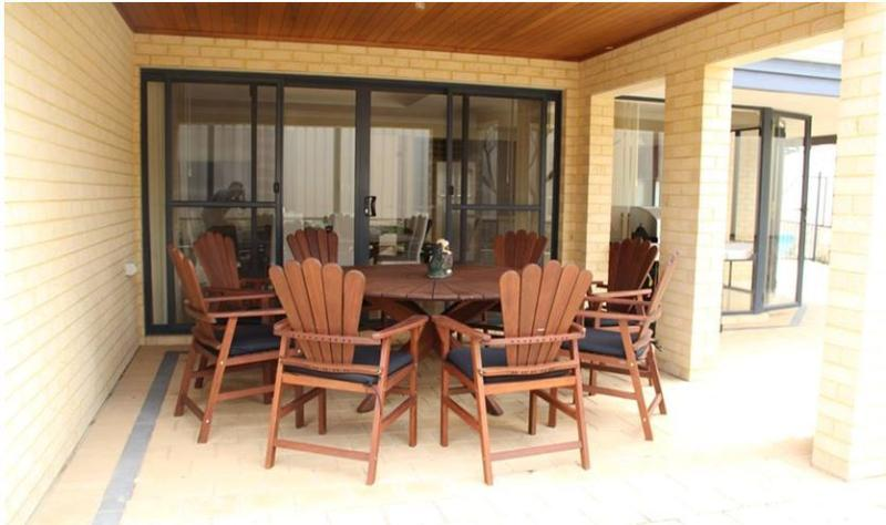 Alfresco with Dining Table and chairs