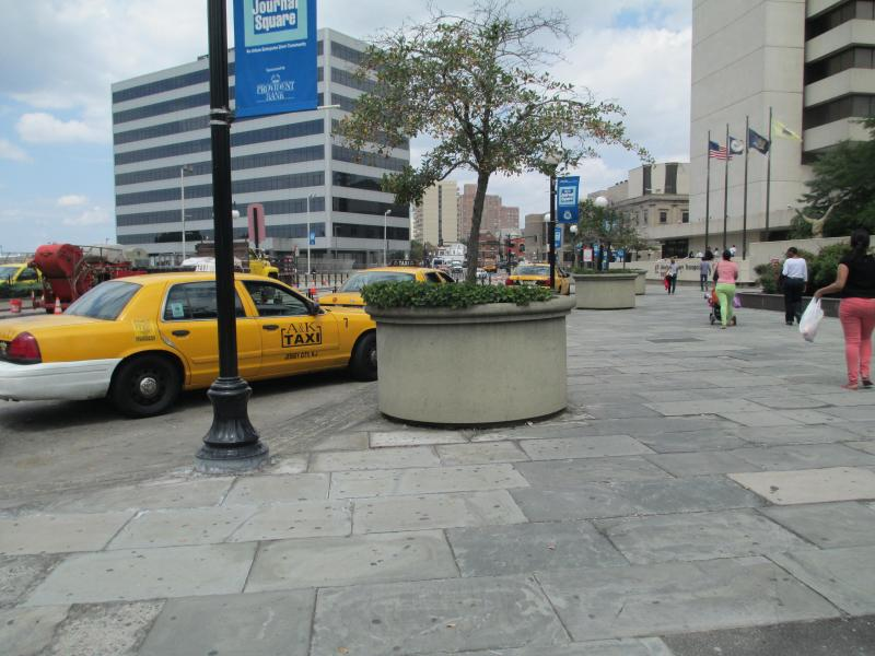 taxi stand outside journal sq path station