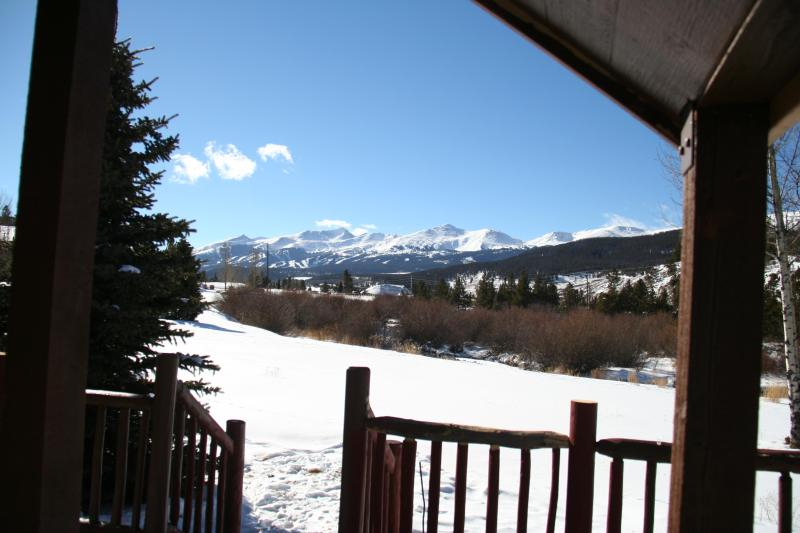 Wintertime view from deck