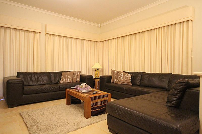 Lounge room with quality leather suites