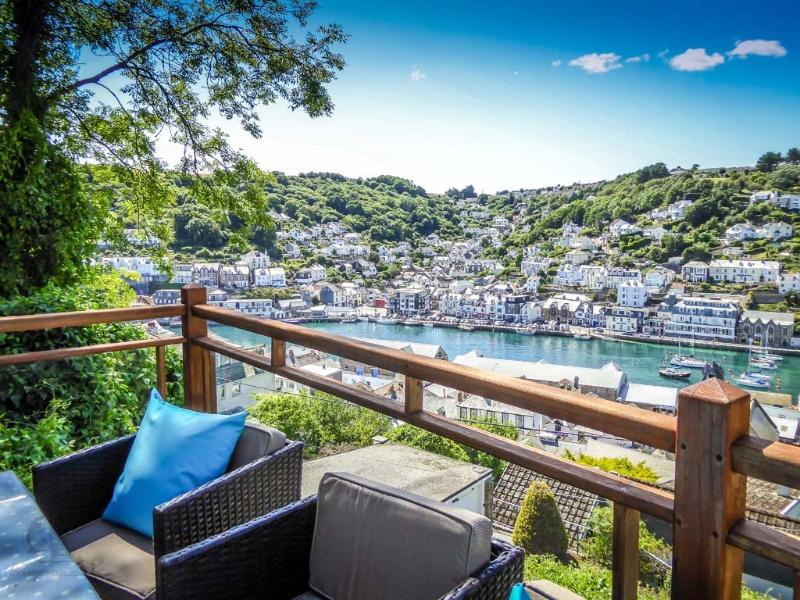 views over looe fishing village
