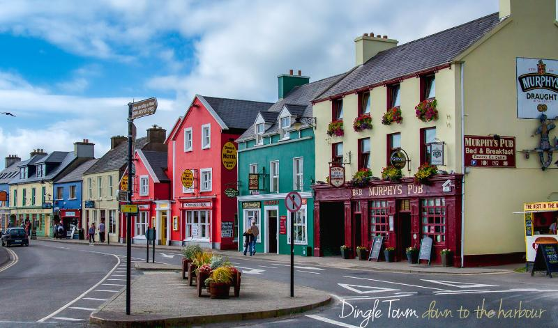 Dingle Town, along from the harbour