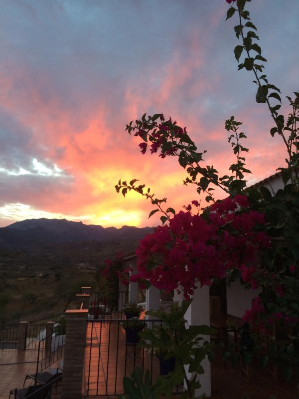 Sun set behind Sierra Las Nieves