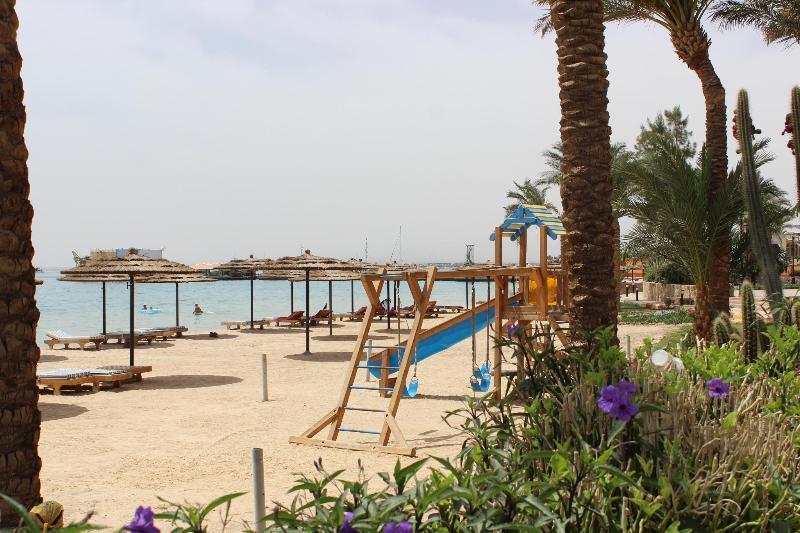 The beach view